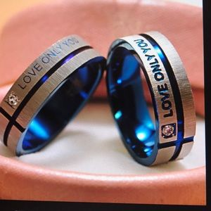 Love only  you promise Rings- HIS AND HERS NWOT